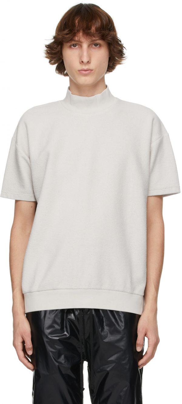 Fear of God Grey Inside Out Mock Neck Sweatshirt