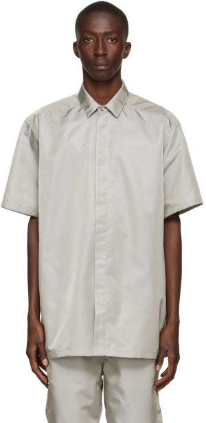 Fear of God Grey Nylon Short Sleeve Shirt