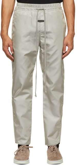 Fear of God Grey Nylon Track Pants