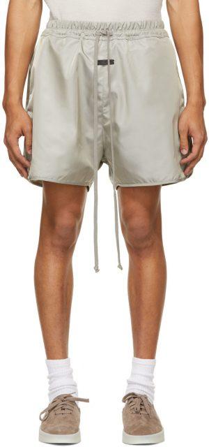 Fear of God Grey Nylon Track Shorts
