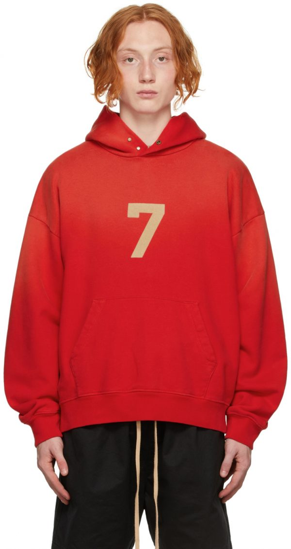 Fear of God Red '7' Hoodie