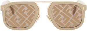 Fendi Beige 'Fendi Force' Sunglasses