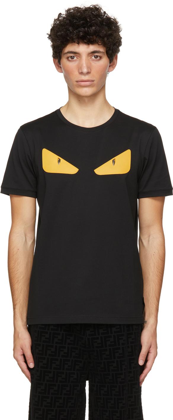 Fendi Black Bad Bugs T-Shirt