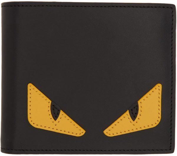 Fendi Black Bag Bugs Wallet