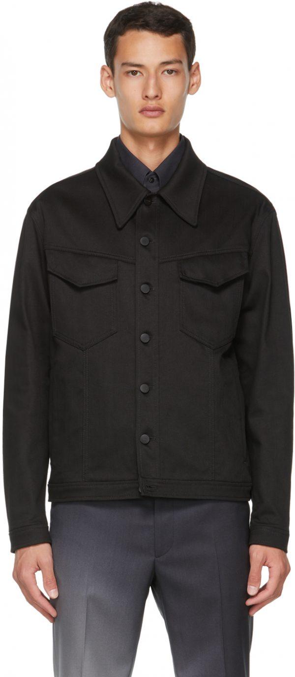 Fendi Black Canvas Jacket
