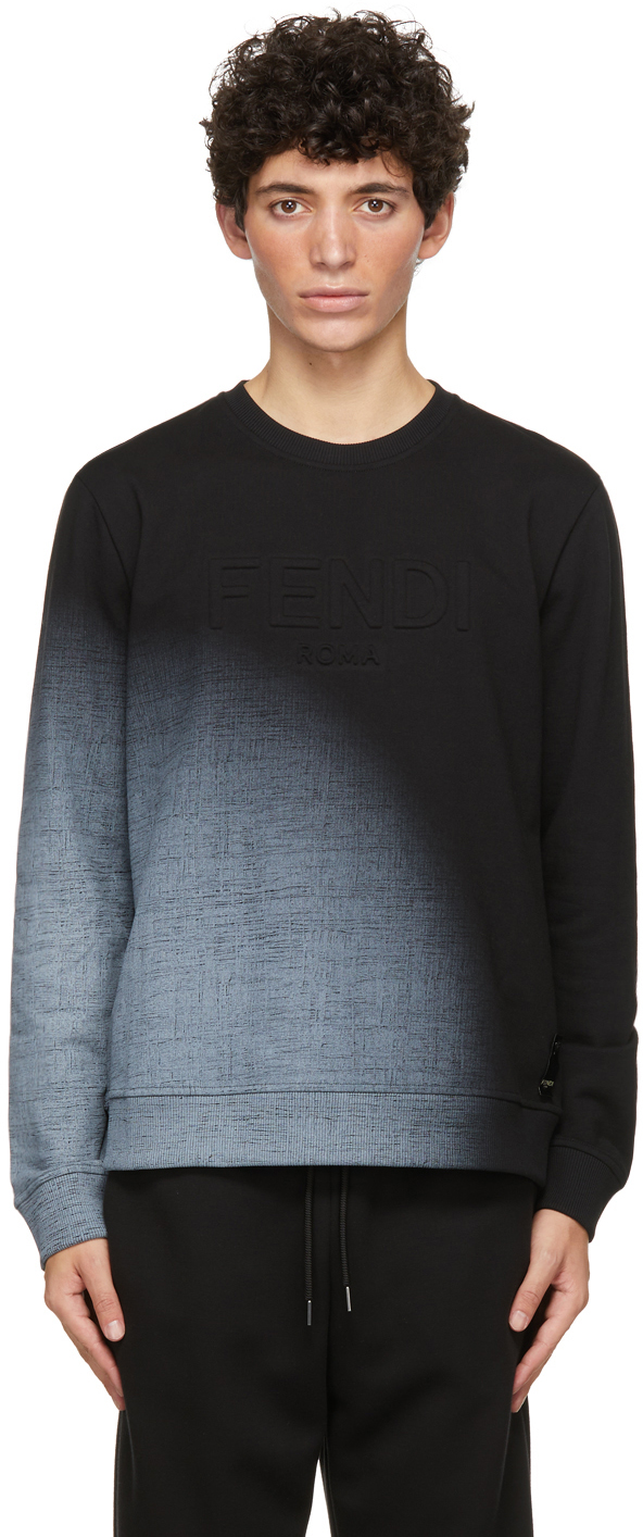 Fendi Black Embossed Logo Sweatshirt