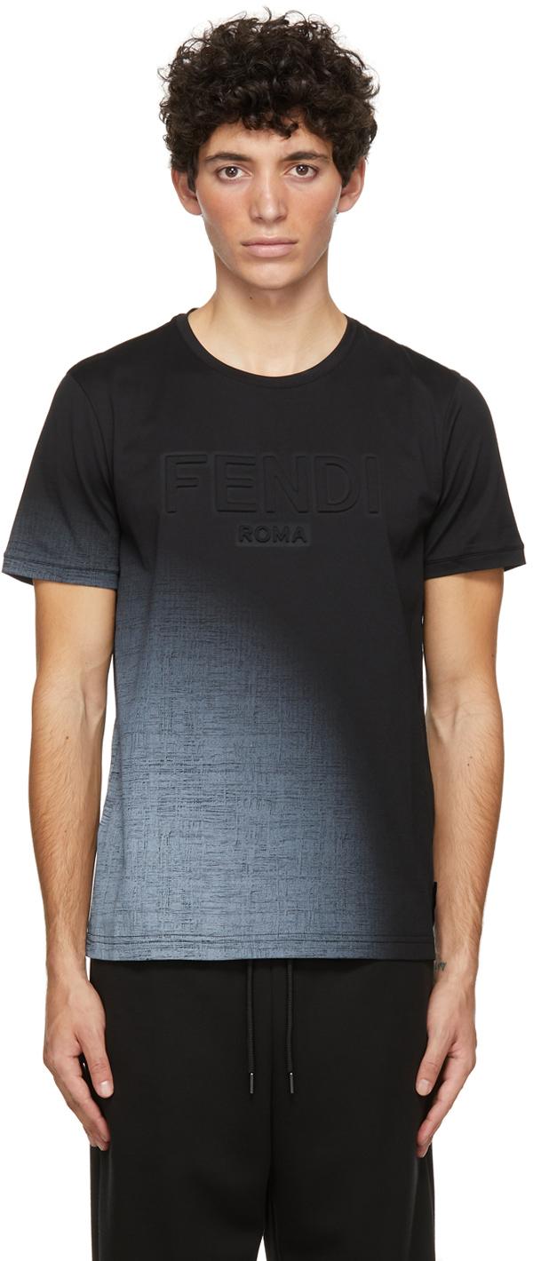 Fendi Black Embossed Logo T-Shirt