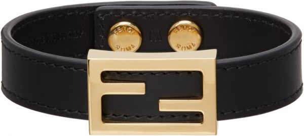 Fendi Black 'FF' Bracelet