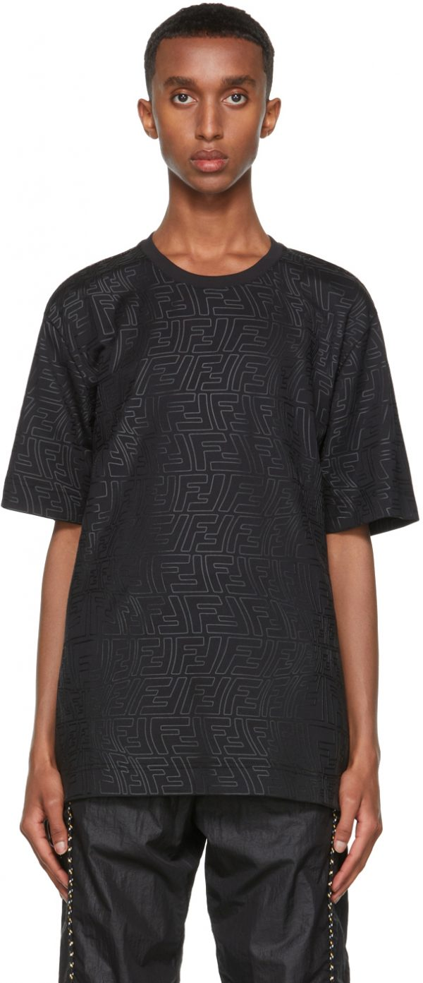 Fendi Black FF Fish-Eye T-Shirt