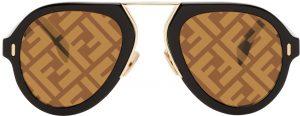 Fendi Black 'Fendi Force' Sunglasses