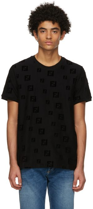 Fendi Black 'Forever Fendi' T-Shirt