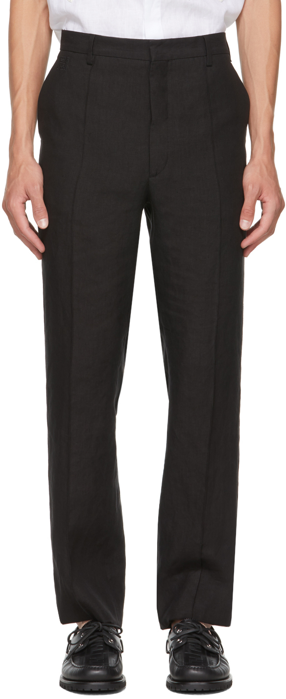 Fendi Black Hemp Trousers