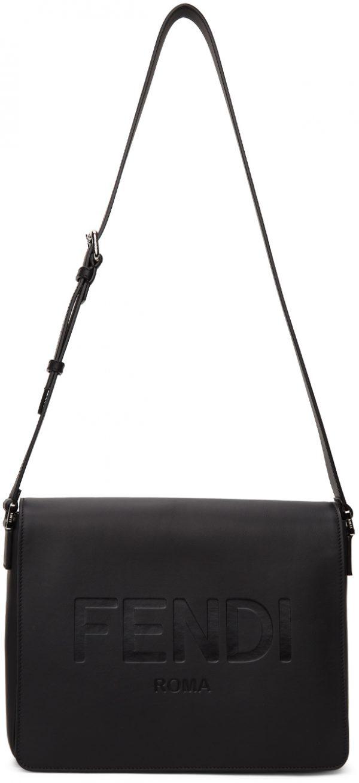 Fendi Black Logo Messenger Bag