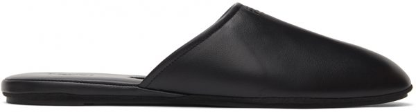 Fendi Black Nappa Logo Mules