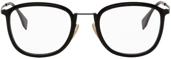 Fendi Black Rectangular Glasses