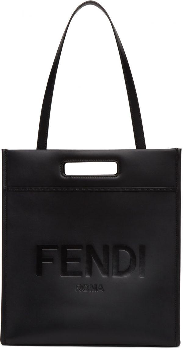 Fendi Black Shopper Tote
