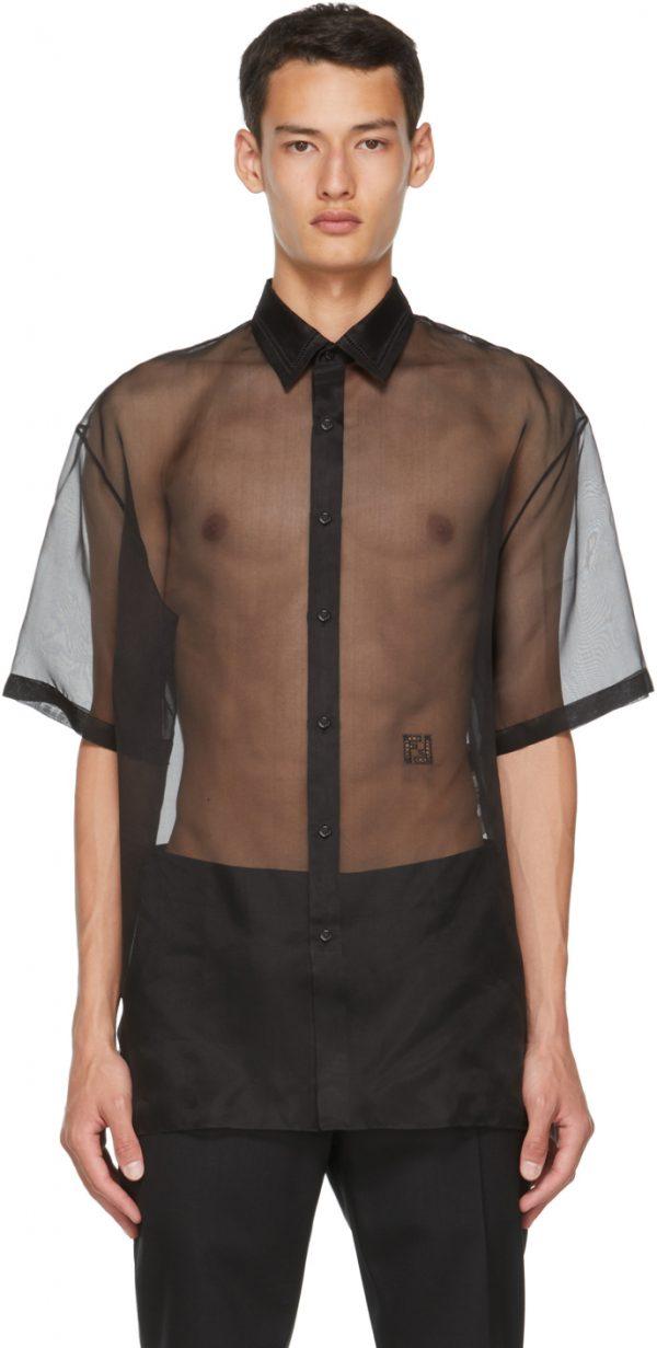 Fendi Black Silk Organza Shirt