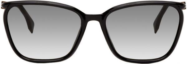 Fendi Black Square 'FF' Sunglasses