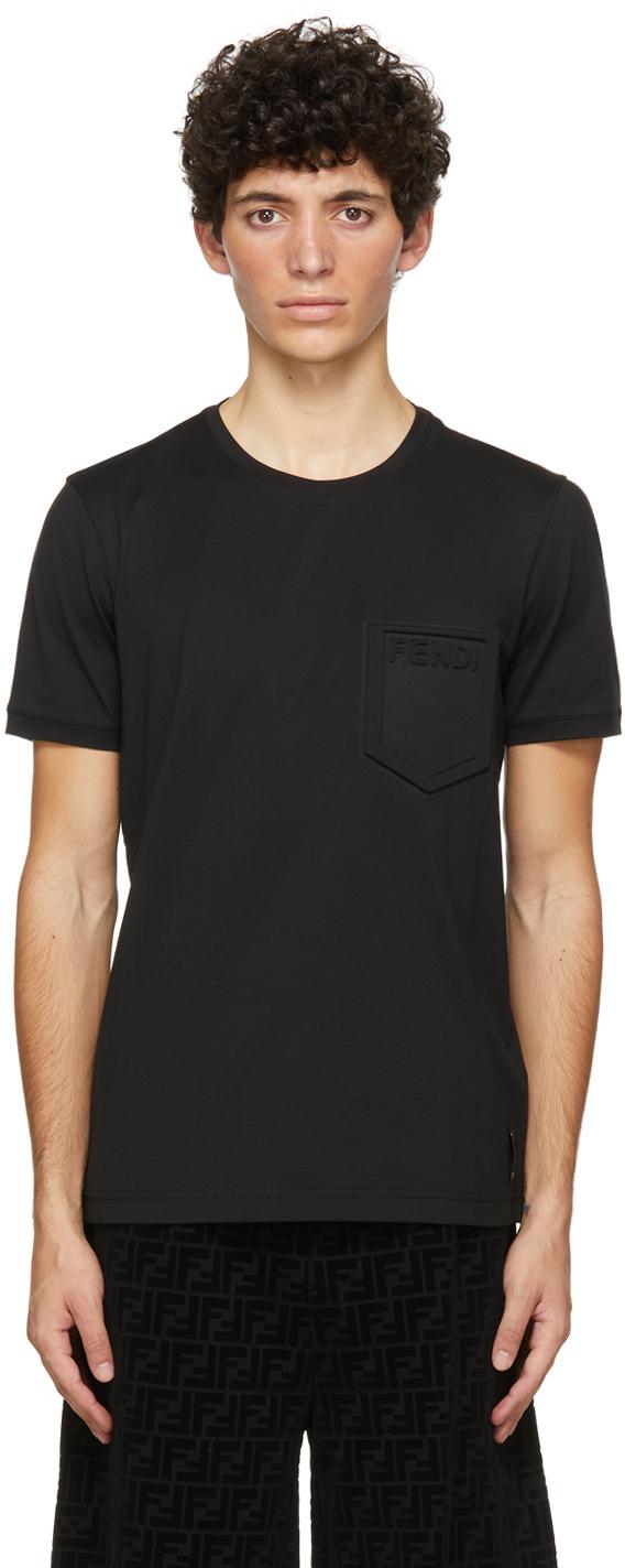 Fendi Black Trompe L'Oeil T-Shirt