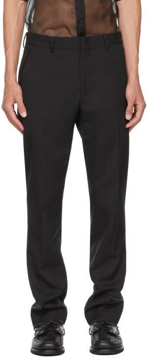 Fendi Black Virgin Wool Trousers
