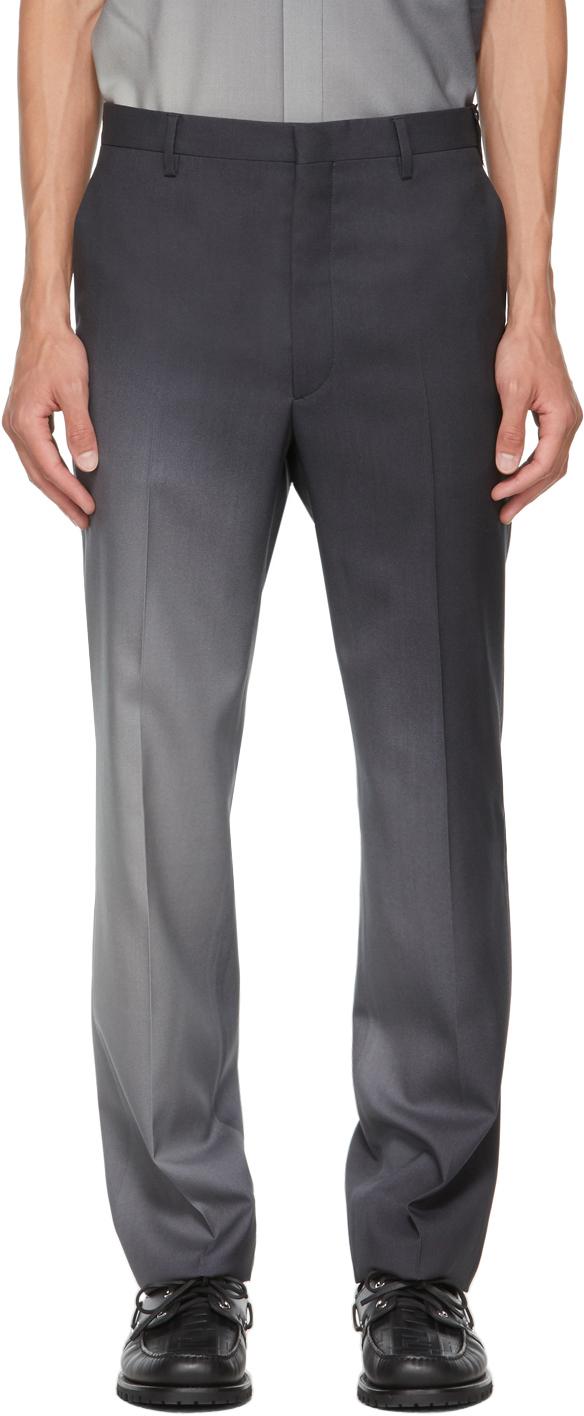 Fendi Black Wool Gradient Trousers