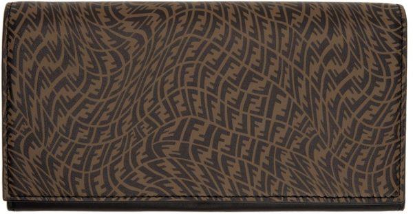Fendi Black & Brown FF Vertigo Continental Wallet