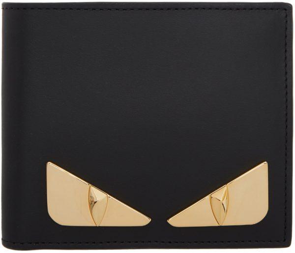 Fendi Black & Gold Bag Bugs Wallet