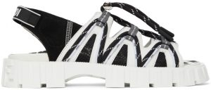 Fendi Black & White FF Vertigo 'Fendi Force' Sandals