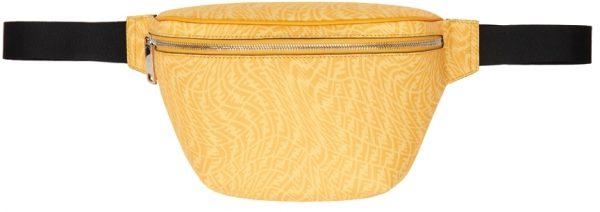 Fendi Black & Yellow FF Vertigo Belt Bag