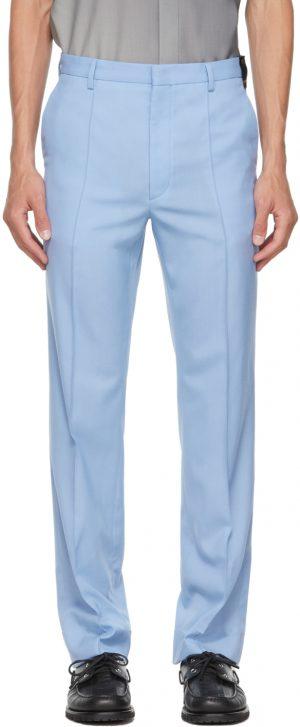 Fendi Blue Virgin Wool Trousers