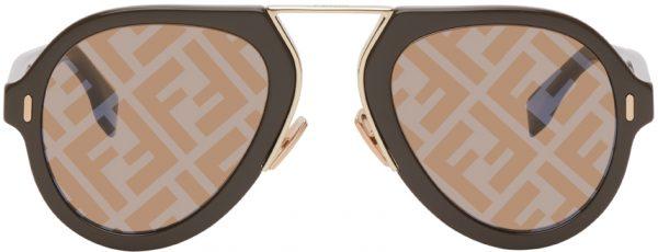 Fendi Brown 'Fendi Force' Sunglasses