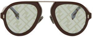 Fendi Burgundy 'Fendi Force' Sunglasses