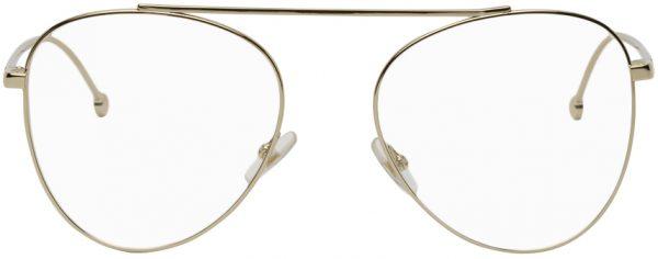 Fendi Gold 'Forever Fendi' Aviator Glasses