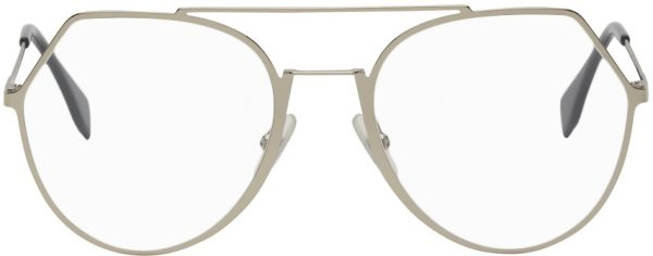 Fendi Gold Modified Aviator Glasses