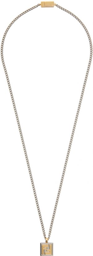 Fendi Gold and Silver 'Forever Fendi' Necklace