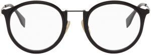 Fendi Grey Acetate Round Glasses