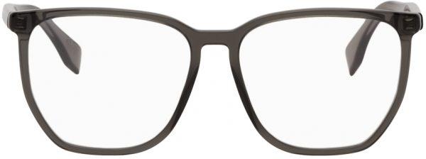 Fendi Grey Geometric 'Forever Fendi' Glasses