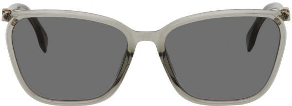 Fendi Grey Square 'FF' Sunglasses