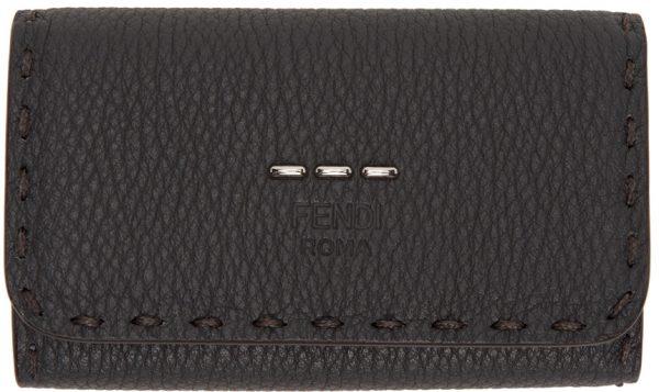 Fendi Grey & Orange Key Case Wallet
