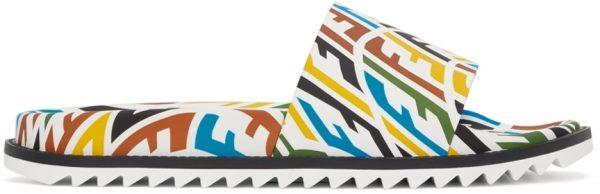 Fendi Multicolor FF Vertigo Slides