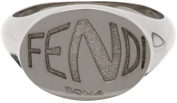 Fendi Silver Fish-Eye Ring
