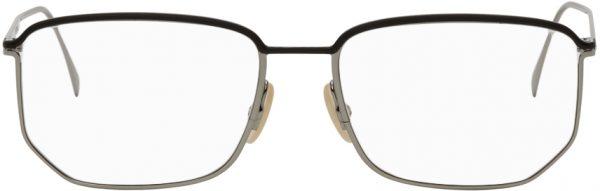 Fendi Silver Rectangular Trim Glasses