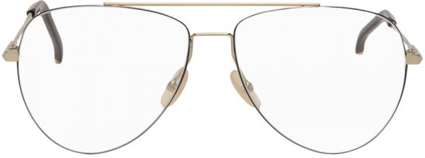 Fendi Silver & Gold Aviator Glasses