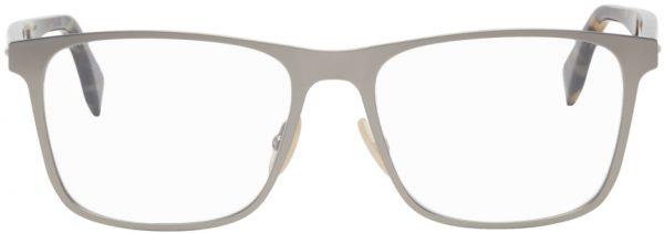 Fendi Silver & Tortoiseshell Modified Square Demo Glasses