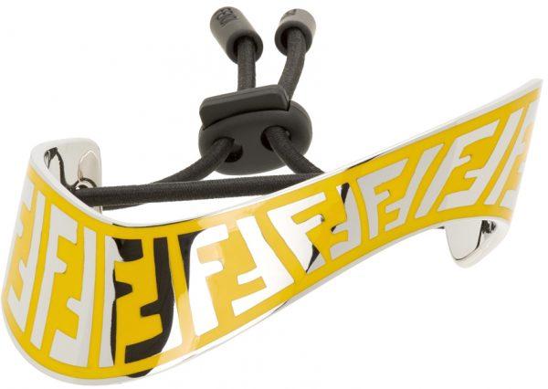 Fendi Silver & Yellow FF Bracelet