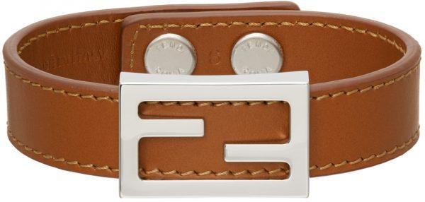 Fendi Tan 'FF' Bracelet