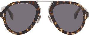 Fendi Tortoiseshell 'Fendi Force' Sunglasses
