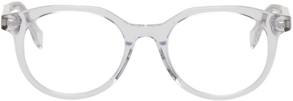 Fendi Transparent Modified Oval Glasses