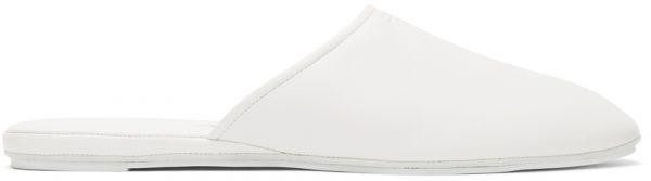 Fendi White Nappa Logo Mules