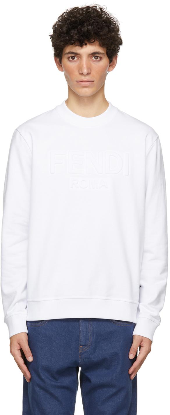 Fendi White Trompe L'Oeil Sweatshirt